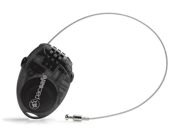 Pacsafe Retractasafe 100 Retractable Cable Lock smoke